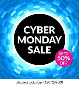 Cyber Monday Sale Banner, EPS8 Vector