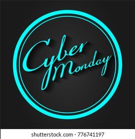 Cyber Monday sale concept, blue