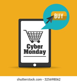 Cyber Monday with sale icons design, vector illustration 10 eps graphic.