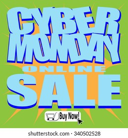 Cyber Monday Vector Explosion illustrated stickers, label or sale icon. Discount Price tags, sign or special offer symbol