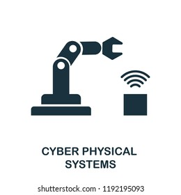 Cyber Physical Systems icon. Simple style design from industry 4.0 collection. UX and UI. Pixel perfect premium cyber physical systems icon. For web design, apps and printing usage.