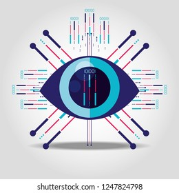 cyber security eye isolated icon
