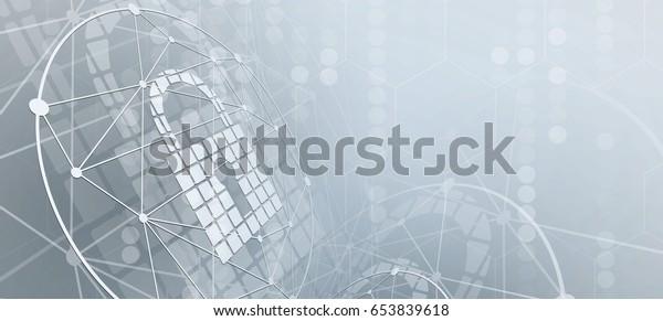 Cybersicherheit und -information oder Netzschutz. Webdienste für künftige Internettechnologien für Unternehmen und Internet-Projekte