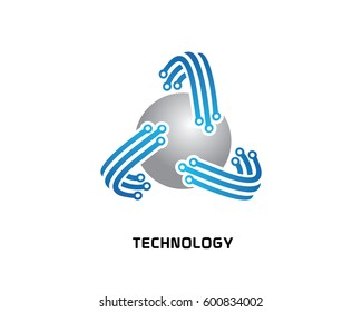 Cyber security logo illustration