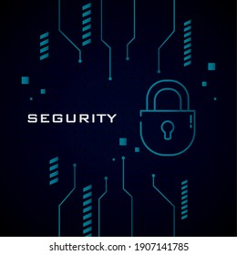Cyber security padlock design of Lock Password technology and protection online theme Vector illustration