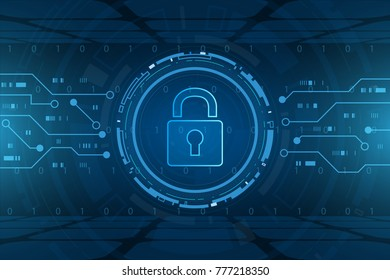 Cyber security technology concept , Shield With Keyhole icon , personal data  , vector illustration