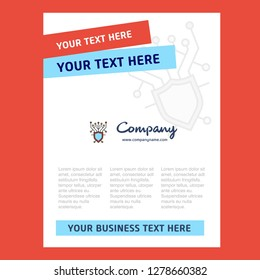 Cyber security  Title Page Design for Company profile ,annual report, presentations, leaflet, Brochure Vector Background