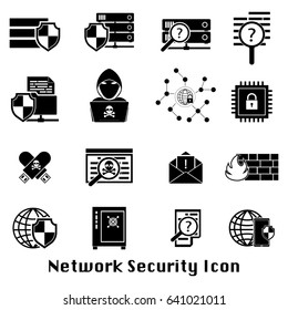 Cybercrime internet network security black icon. Vector illustration cyber crime online security concept.