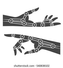 Cybernetic organism. Mechanical hand.