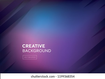 Cyberpunk color dark purple and blue gradient abstract background with oblique stripes at borders
