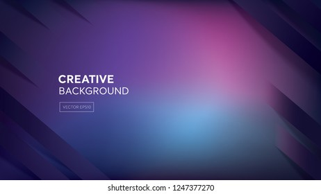 Cyberpunk color dark purple and blue gradient abstract background with oblique stripes at borders and space for text, 16:9 proportion