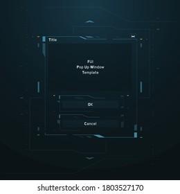 Cyberpunk Sci-fi FUI Game Window PopUp Template