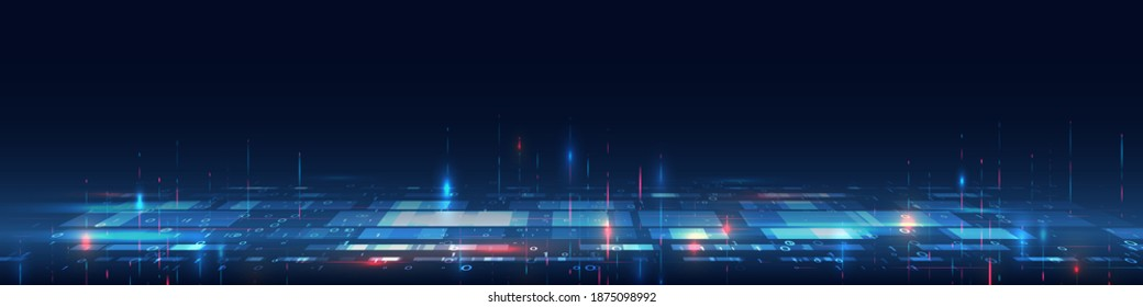 Cybersecurity for business and internet project. Abstract futuristic background. Hi-tech business presentation. Big data concept.