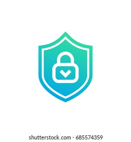 Cybersecurity icon on white