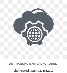 Cyberspace icon. Trendy flat vector Cyberspace icon on transparent background from Programming collection. High quality filled Cyberspace symbol use for web and mobile