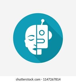 Cyborg concept icon