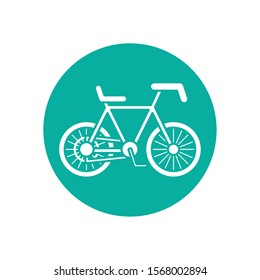 cycle icon design, Vehicle bicycle bike lifestyle sport and transportation theme Vector illustration