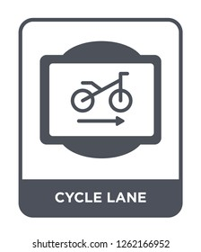 cycle lane icon vector on white background, cycle lane trendy filled icons from Traffic signs collection, cycle lane simple element illustration