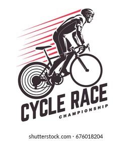 Cycle race. Sport emblem