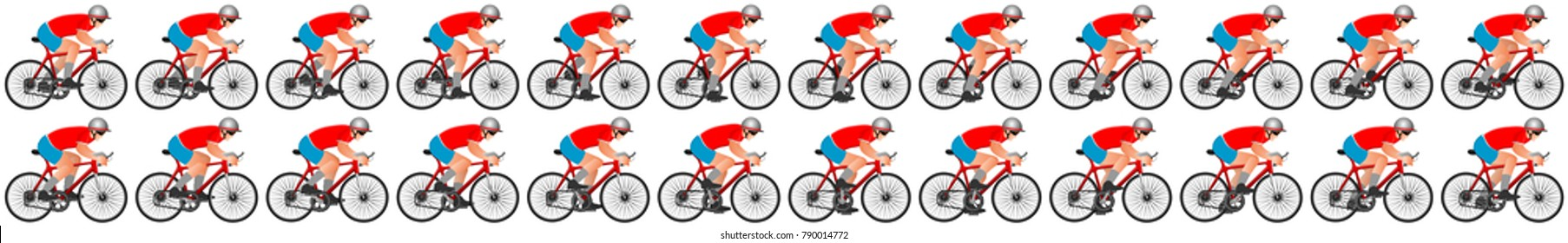 Cycle riding animation sprite sheet