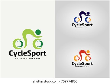 Cycle Sport Logo Template Design. Creative Vector Emblem for Icon or Design Concept