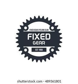 Cycling , Bicycle shop logo, Fixed gear bicycle logo