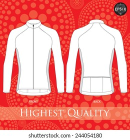 Cycling jersey template. Vector.