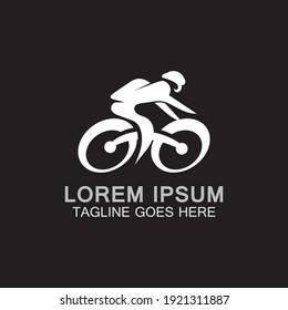 Cycling logo sport design vector icon, symbol template business concept