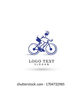 Cycling Race & Bicycle Shop Logo. Symbol & Icon Vector Template.