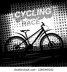 Cycling race. Vector image.