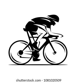 Cycling race vector logo illustration, cycle sport identity