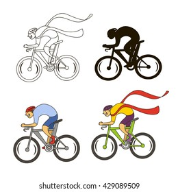 Cycling silhouettes, Vector
