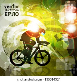 Cycling. vector illustration