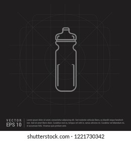 Cycling Water Bottle Icon - Black Creative Background - Free vector icon