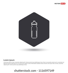 Cycling Water Bottle Icon Hexa White Background icon template - Free vector icon