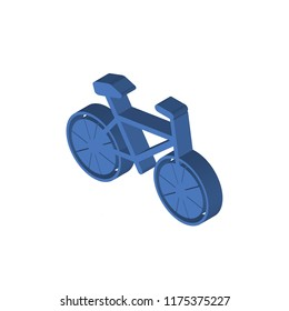 Cyclist isometric left top view 3D icon