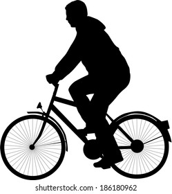 cyclist silhouette