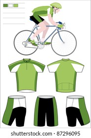 Cyclist team equipment