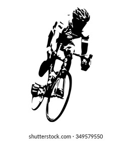 Cyclist vector. Road cycling