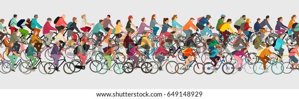 Radfahrer-nahtloser Vektorbanner