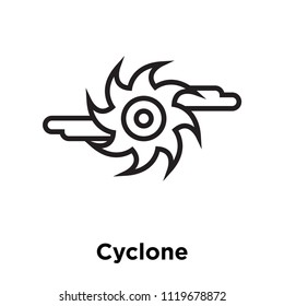 Cyclone icon vector isolated on white background for your web and mobile app design, Cyclone logo concept