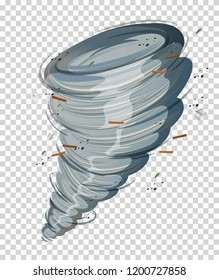 A cyclone on transparent background illustration