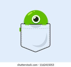 a cyclops behind the pocket