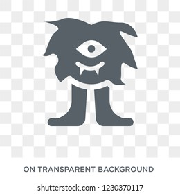 Cyclops icon. Trendy flat vector Cyclops icon on transparent background from Fairy Tale collection.