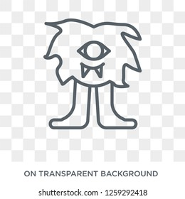 Cyclops icon. Trendy flat vector Cyclops icon on transparent background from Fairy Tale collection. High quality filled Cyclops symbol use for web and mobile