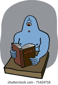 Cyclops reading Ulysses