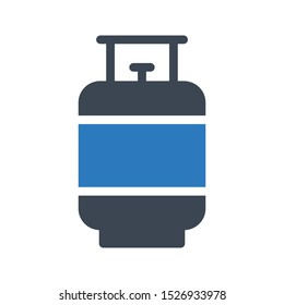 cylinder glyph colour vector icon