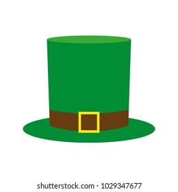 Cylinder hat leprechaun leaf for St. Patrick