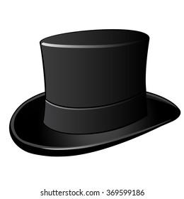 Cylinder hat. Vector.