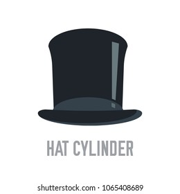 cylinder hat vector illustration symbol object. Flat icon style concept design